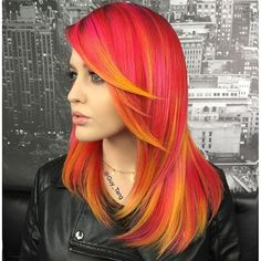 pink to orange! Love this look maybe next spring time!