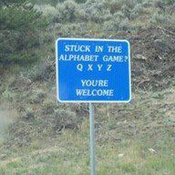 I loved playing the Alphabet Game on car trips and would have been so happy for a sign like this!