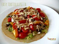 easy tortilla pizza gluten free vegan vegetarianmamma.com
