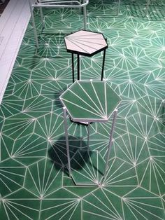 Tables (H 55 cm) for hexagonal tiles Dandelion and Casa