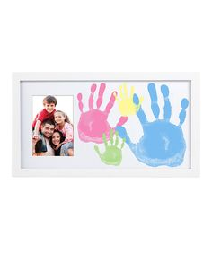 Look at this Pearhead Family Handprint Frame on #zulily today! I love this brand....everything they make is amazing. Worth every penny- i have the monthly pic frames fir both kiddos and their hand/foot prints (every 6mo) and its the best product I have found. You can find them regularly at tjmaxx and even ross.