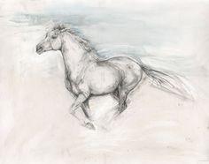 Horses, bulls, abstract prints and original art for sale Horse Pencil Drawing, Horse Drawings, Animal Drawings, Drawing Art, Pencil Art, Abstract Sketches, Art Drawings Sketches, Bull Painting, Horse Illustration