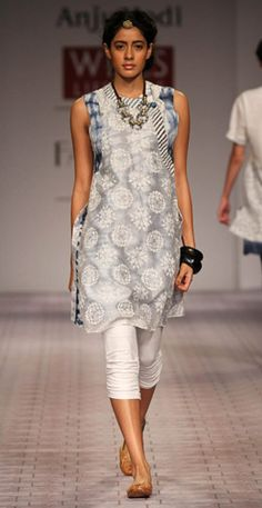 silver kurta- Love this!