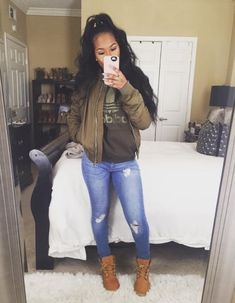 Swag Girl Outfit Ideas pin on issa look Swag Girl Outfit. Here is Swag Girl Outfit Ideas for you. Swag Girl Outfit swag outfit ideas for black girls ripped jeans with jacket. Dope Outfits, Trendy Outfits, Fashion Outfits, Womens Fashion, Fashion Shoes, Fashion Pants, Tims Outfits, Ghetto Outfits, Fashion Logos