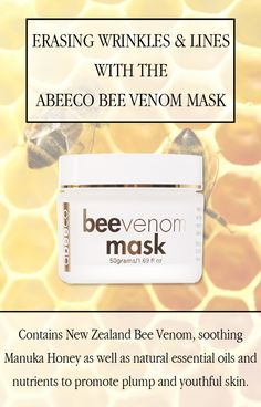 Abeeco Bee Venom Mask: reduce fine lines and improve the tautness of your skin.