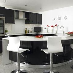 Black gloss kitchen | Kitchens | Design ideas | housetohome.co.uk | Mobile