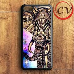 Aztec Elephant Galaxy Nebula iPhone 5C Case