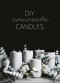 DIY Concrete Candles
