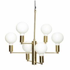Hübsch Hanging lamp brass 57xh59cm ✓Shipped the same day  ✓Fast delivery ✓Safe payment (SSL)  ✓30 day return policy