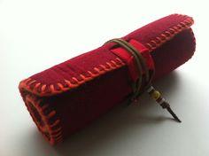 keçe kalemlik felt pen roll