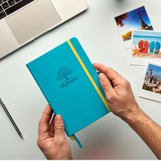 MyPlans Undated Weekly Planner for Men and Women - Goal and Productivity Planner - Hardcover, Faux Leather, Turquoise, Gift Idea