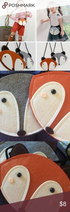 Fox purses I am selling adorable fox felt style purses for little girl or young preteen purses.  Let me know in the comments if u want the brown or the grey.  These are new and would make an excellent Christmas or birthday gift Accessories Bags