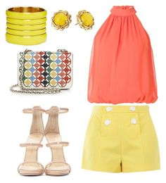 Spring Chic x Yellow by leva-nurani on Polyvore featuring polyvore, fashion, style, Alice + Olivia, Boutique Moschino, Giuseppe Zanotti, Tory Burch, ASOS, Kate Spade and clothing