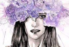 Check out this item in my Etsy shop https://www.etsy.com/listing/246295562/original-watercolor-painting-my-purple