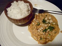 Chicken Korma: dinner tonight since the hubby's away