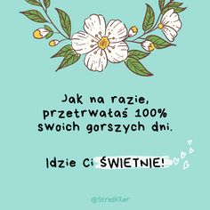 Jak radzić sobie z długotrwałym stresem? Self Awareness, Love Life, Self Care, Positive Quotes, Texts, Psychology, Haha, Stress, Mindfulness