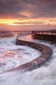 Scarborough Photograph - Scarborough Seas by Martin Williams Yorkshire England, Yorkshire Dales, North Yorkshire, Scarborough England, Large Waves, Northern England, Colour Photography, Seaside Towns, High Tide