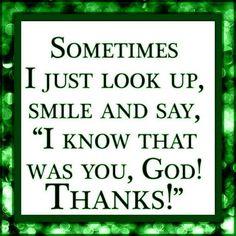 Thank you God!