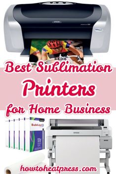 The Best Sublimation Printers For Starter & Advanced Home Business Cricut Heat Transfer Vinyl, Cricut Iron On Vinyl, Ink Transfer, Inkscape Tutorials, Cricut Tutorials, Vinyl Printer, Best Printers, Diy Cutting Board, Die Cutting