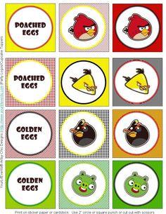 Free Angry Birds Printable
