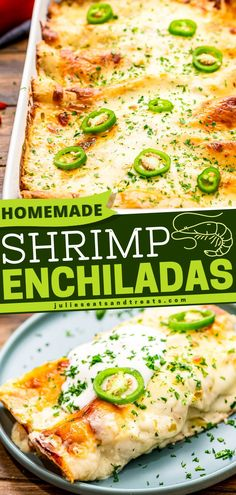 This Cinco de Mayo dinner idea will turn your cooking into a child's play. It's perfect for seafood lovers and Mexican cuisine aficionados. Serve up this quick and easy shrimp enchilada capped with a delicious homemade creamy sauce.