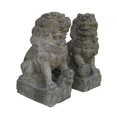 Pair Chinese Foo Dog statue