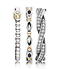Mix a bit of gold into your ring stylings #PANDORAring