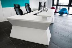 Solid Surface Reception Desk TW-MART-074