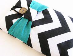 Chevron Ipad mini case, Ipad mini cover, Ipad mini sleeve-Turquoise Bow.-25