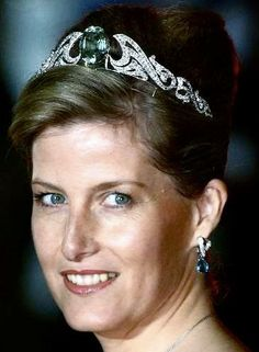 Tiara Mania: Aquamarine Necklace Tiara worn by the Countess of Wessex