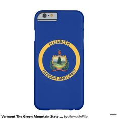 Vermont The Green Mountain State Personalized Flag Barely There iPhone 6 Case