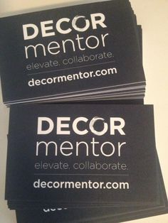 Decor Mentor Business Card Front #elevate #collaborate | Graphic Design by Brainstorm Studio http://brainstormstudio.ca @Joel Clements