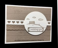 Handmade card using the Happy Home Stamp Set & Hardwood Background Stamp from Stampin' Up!