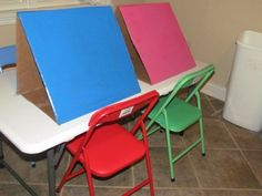 DIY: Make your own tabletop easels for preschool