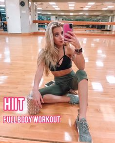 This HIIT full body workout is a killer workout you can do at home or the gym. N… This HIIT full body workout is a killer workout you can do at home or the gym. No equipment is needed for this workout. Mix of cardio & strength movements. Fitness Workouts, Workout Hiit, Sport Fitness, Workout Challenge, Fitness Diet, Workout Videos, Fitness Goals, Yoga Fitness, At Home Workouts