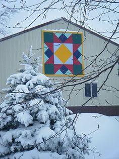 Correctionville, IA snow & a Barn Quilt