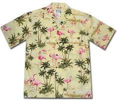 pink flamingo hawaiian shirt