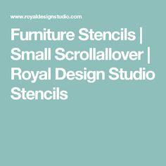 Furniture Stencils | Small Scrollallover                           | Royal Design Studio Stencils