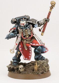 Warhammer Armies, Warhammer 40000, Space Marine Chaplain, Miniaturas Warhammer 40k, Black Armor, Grey Knights, Deathwatch, Imperial Fist, Warhammer Models