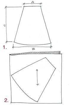 10-minute skirt tutorial, make your own pattern using your measurements