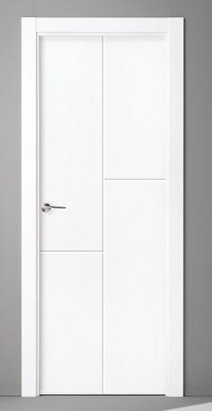 Puertas Lacadas Contemporary Interior Doors, White Interior Doors, Interior Door Styles, Door Design Interior, White Doors, Wooden Front Door Design, Wooden Doors, Ikea Built In, Bedroom Door Design