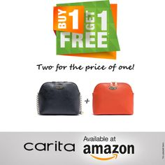 Don't miss out on this amazing special offer! This month only - When you purchase one Carita and Taylor bag at Amazon.com you will get one for FREE! Starting next week. #buyonegetone #WonderWoman #purse #handbags #fashion #liketkit #ootd #stylegram #streetstyle #sotd #promotion #amazon #sale Amazon Sale, Buy One Get One, Promotion, Ootd, Wonder Woman, Handbags, Purses, Amazing, Free