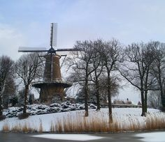 As a Dutch person you get always asked if you live in a Molen. well no hardly anyone does, but some do and I reckon it is pretty special. This one is the Molen van Piet, in my hometown Alkmaar, now a museum. Netherlands Windmills, Bruges, Germany Travel, Belgium, Dutch, Stuff To Do, City, Winter, Places