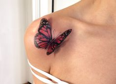 Butterfly Tattoo/ Schmetterling Tattoo/ by Martin Stauch Tatuagem de borboleta / Schmetterling Tattoo de Martin Stauch Dope Tattoos, 3d Tattoos, Pretty Tattoos, Beautiful Tattoos, Body Art Tattoos, Sleeve Tattoos, Tattoo Sleeves, Tatoos, 3d Flower Tattoos