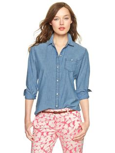 1969 Chambray One-Pocket Shirt. Hey, what do you think? I'm shopping on Miner.