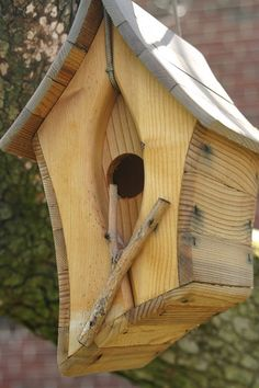 handcrafted birdhouse ... love this wavy look ... modern ... artsy ... creative
