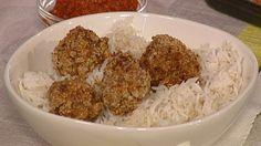 Crunchy pork and coriander meatballs