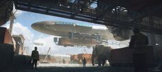 Ship art by Julien Gauthier. Keywords:concept air ship blimp spaceship art illustration design renders by julien gauthier renar. Sci Fi Environment, Environment Design, Concept Ships, Concept Art, Spaceship Art, Matte Painting, Science Fiction Art, Tumblr, Dieselpunk