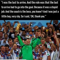 The story of how Neuer became a midfielder.
