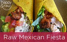 Raw Tacos Recipe: Are you looking for some new raw food menu ideas for special occasions? Make a Mexican Fiesta: raw tacos!